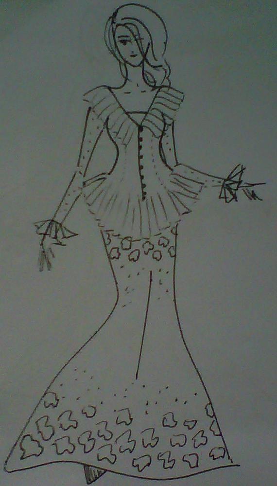 For Indonesian Batik Fashion Illustration