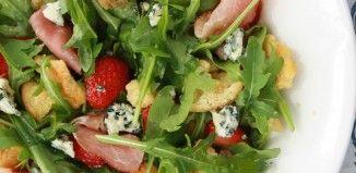 Jordbærsalat med blåskimmel