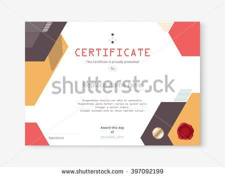 Certificate template collection 38 pinterest diploma certificate template design with international print scale a4 a5 vector illustration yelopaper Gallery