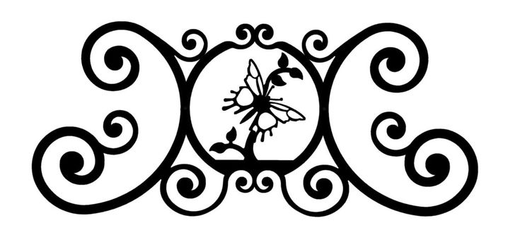Wrought Iron Butterfly Over Door Plaque - Find at Wrought Iron Haven products such as door plaque, name plaques, metal plaques, house signs, metal name plaques.
