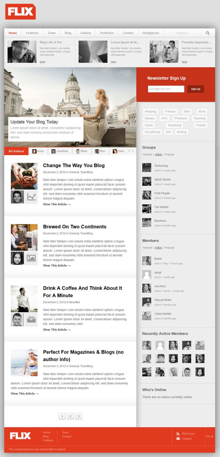 Flix is a community and power blogging theme for WordPress. With BuddyPress support included into the the theme you can start your own community in no time. ...