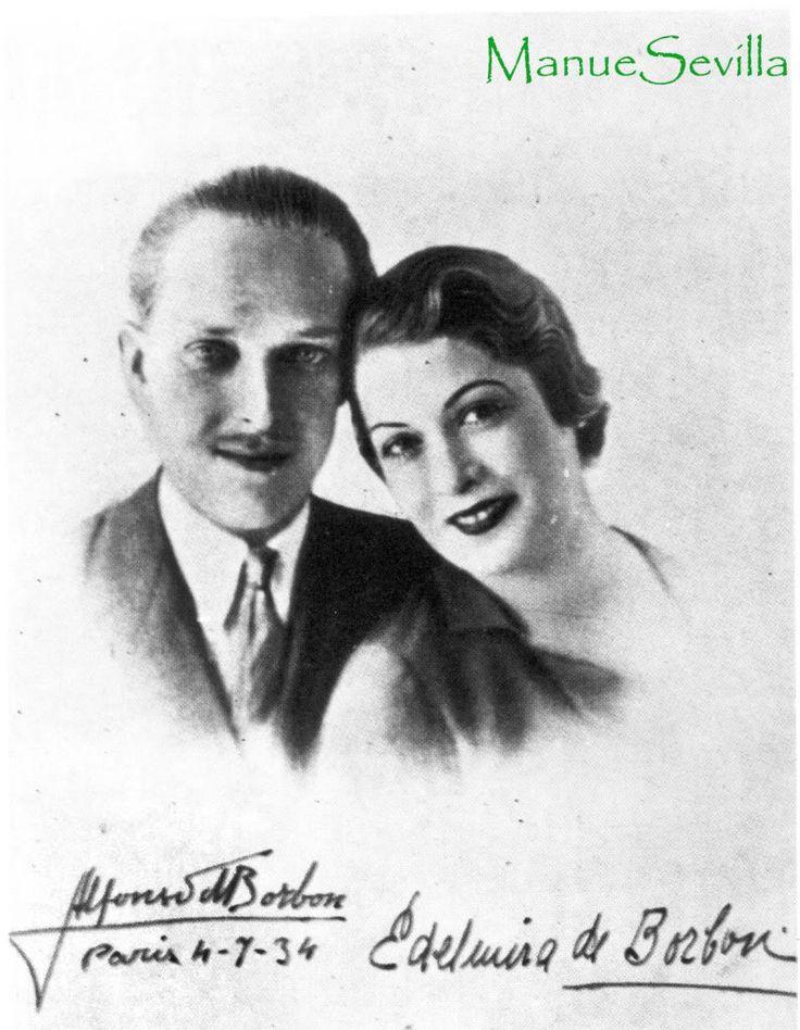 lfonso de Borbon y Battemberg nacio en el palacio real de Madrid el 10 de Mayo de 1907. Hemofilico renunció a la sucesión del trono en Lausana (Suiza) el 11 de Junio de 1933 y adoptó el titulo de conde de Covadonga. Fallecio de accidente automovilistico en el hospital general de Miami el 6 de Septiembre de 1938, contaba solo 31 años.  Se casó en primeras nupcias con Edelmira Sampedro Robato nacida en -sagua la Grande (Cuba) el 15 de marzo de 1906. Divorciados en la Habana el 8 de Mayo de…