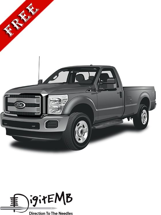Heavy Attractive Ford F250 Free Vector Design! Formats Available: AI, .CDR, .EPS, .SVG, .PDF