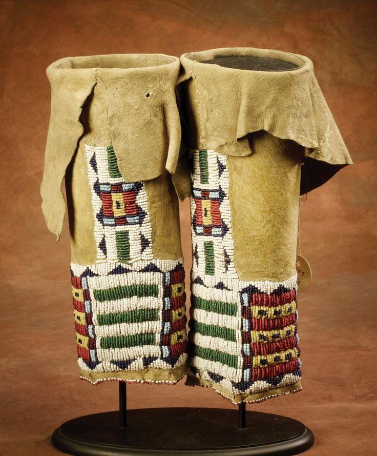 Cheyenne girl s beaded leggings c 1880 diy for Cheyenne tribe arts and crafts