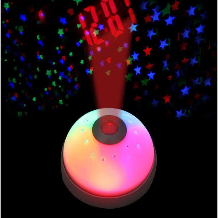 Unique Magic LED Color-Change Projection Projector Alarm Clock