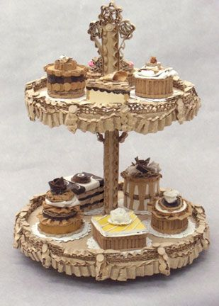 Victorian Dessert Tray with Nine Petits Fours
