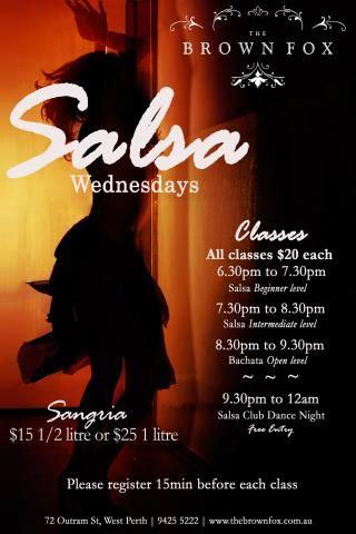 Salsa Classes at The Brown Fox | Perth City