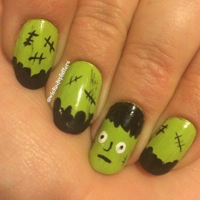 47 best my wicked splatters nail art images on pinterest frankenstein nail art frankensteinwickednail art prinsesfo Image collections