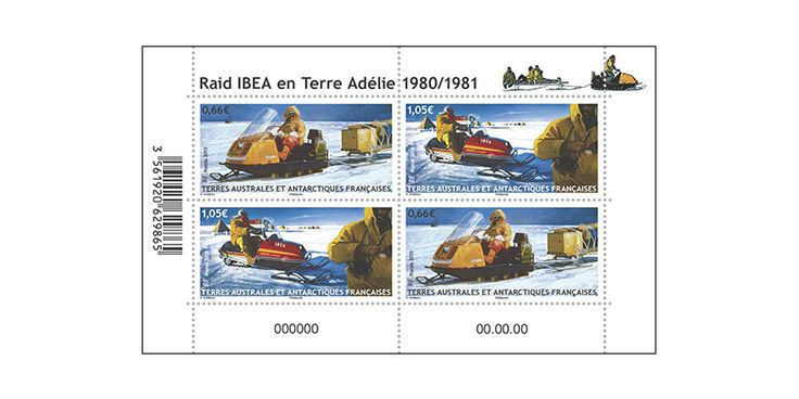 COLLECTORZPEDIA: TAAF Stamps IBEA Raid Snowmobile