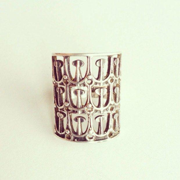 Jorma Laine, vintage modernist silver ring.