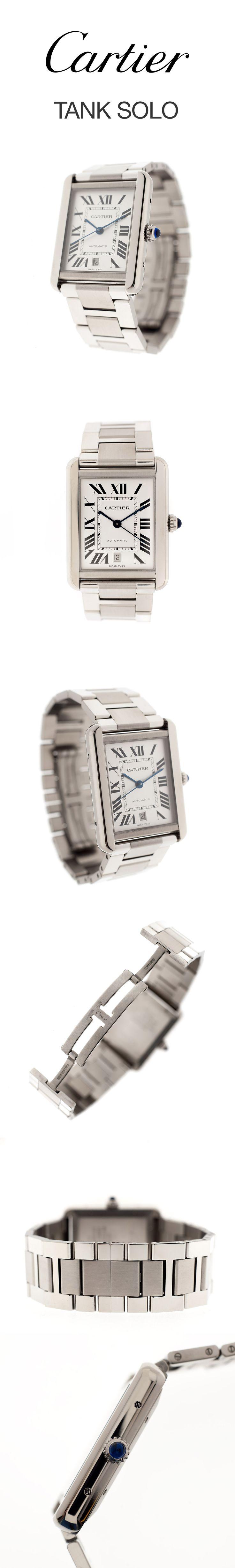 Cartier Tank Solo XL Automatik Herren Stahl Uhr | Ref. W5200028