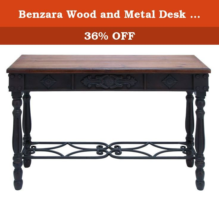 Benzara Wood and Metal Desk Durability with Rich Mahogany Color. Endowed with a rich mahogany color Made form wood and metal Blends in with your decor Provides ample space to organize stuff.