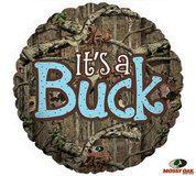 It's a Buck (It's A Boy) Mossy Oak Camo Deer Baby Shower Balloon