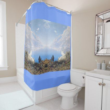 #Amalfi Coast Italy Mediterranean Shower Curtain - #Bathroom #Accessories #home #living