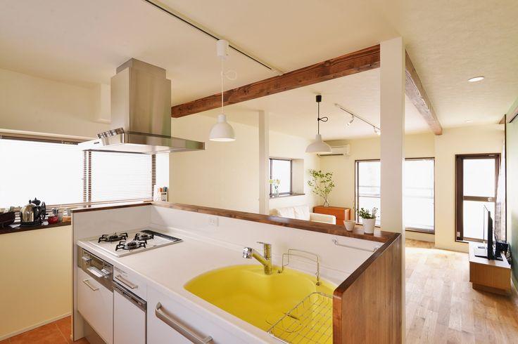 リフォーム・リノベーションの事例|キッチン|施工事例No.456リビングをベストポジションにして、すがすがしく、片付けやすく・・・。|スタイル工房