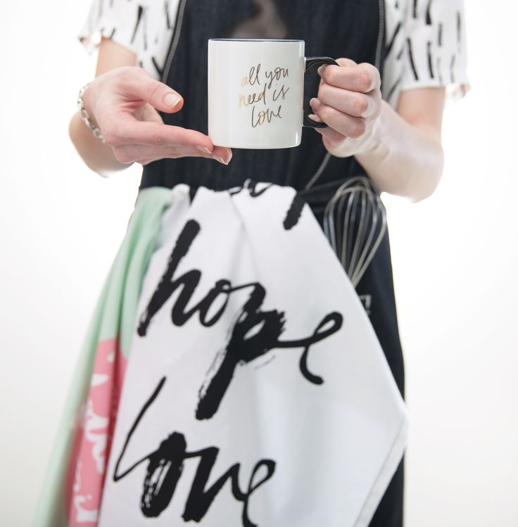 freedom x CCI All You Need is Love mug and tea towels designed by Blacklist