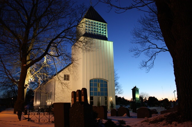 Langesund church, built 1992, Norway
