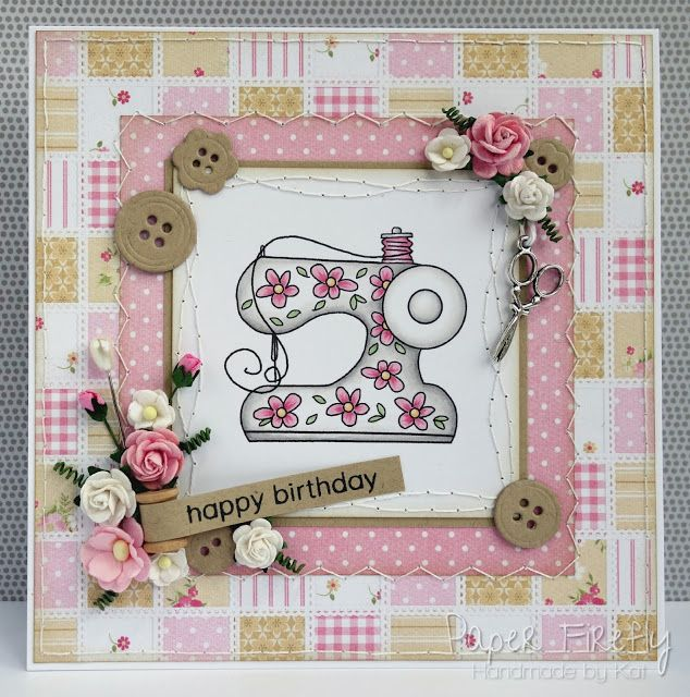 Handmade sewing themed card                                                                                                                                                                                 More