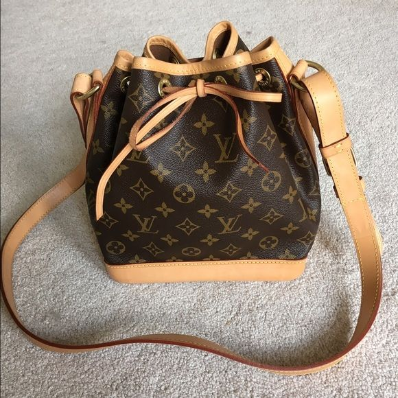 Authentic Louis Vuitton Noe BB Gorgeous Louis Vuitton Noe BB in monogram canvas. Adorable bucket bag that's big enough to fit essentials! Perfect condition. Still light patina. Only sign of wear is on the bottom. Comes with dustbag. No trades. Louis Vuitton Bags Crossbody Bags