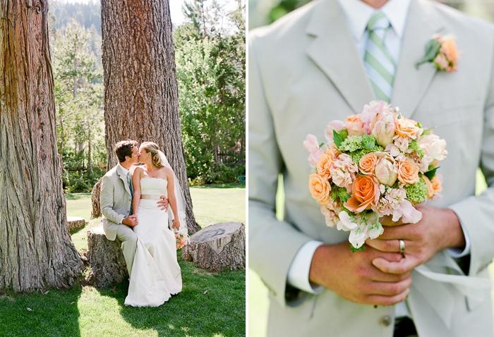 Love this greyish khaki color, especially for a beach wedding. :)