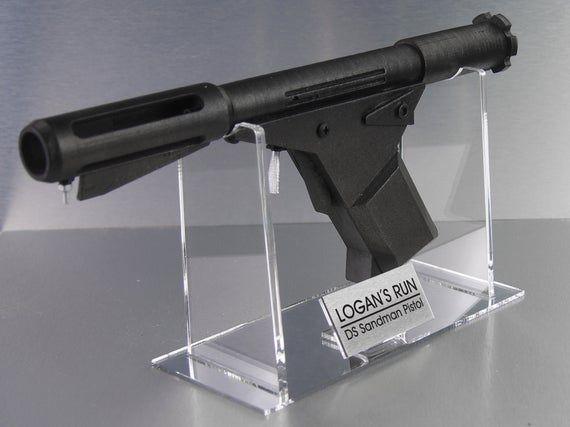 Logans run  SD pistol logans run blaster DC pistol,stand,logans run blaster logans sleep gun Logans Run deep sleep pistol