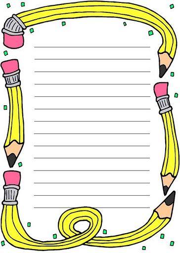 Papier lettre crayon