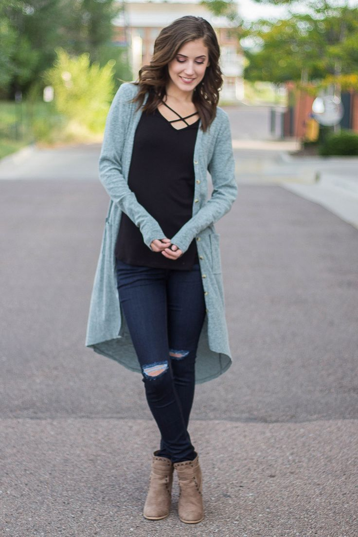 No Way Girl Button Down Knit Cardigan (Spring Olive)