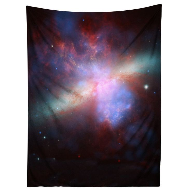 Sharp Shirter M82 Galaxy/ Space Tapestry (50 x 60 inches), Multi (Polyester)