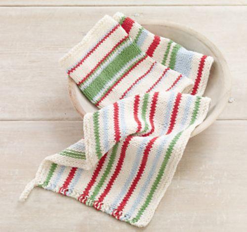 Ravelry: Knit Striped Dishcloths pattern by Lion Brand Yarn