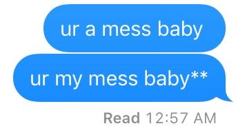 Haha tis was actually mean af at first but it turned to cute message:)))