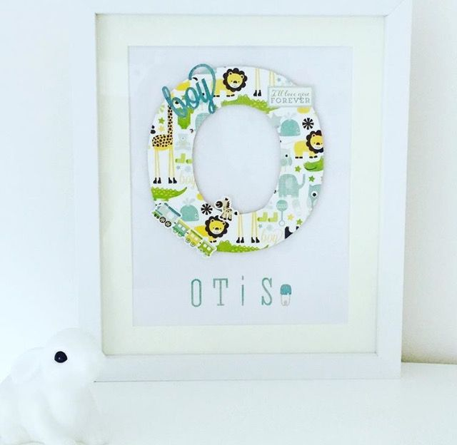 Personalised wooden letter Name Frame