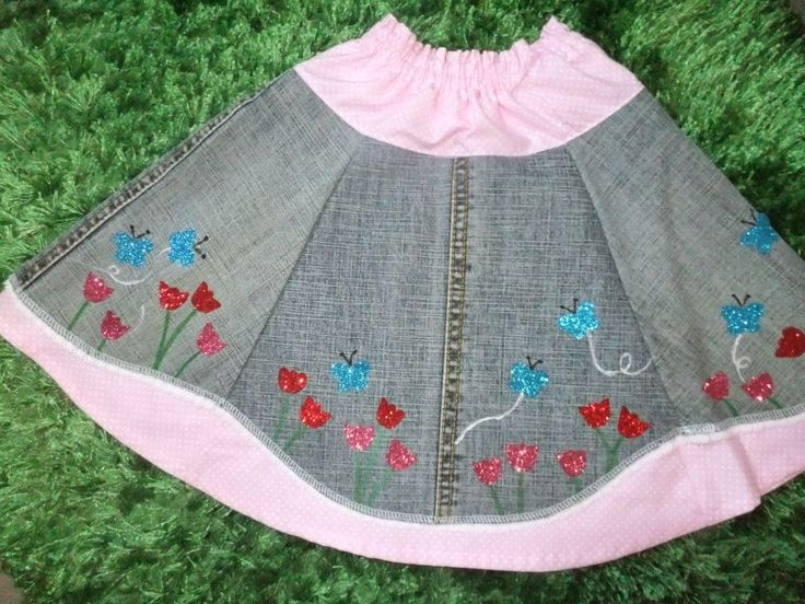 Rock aus Jeans / Upcycling / Skirt made from old pair of jeans
