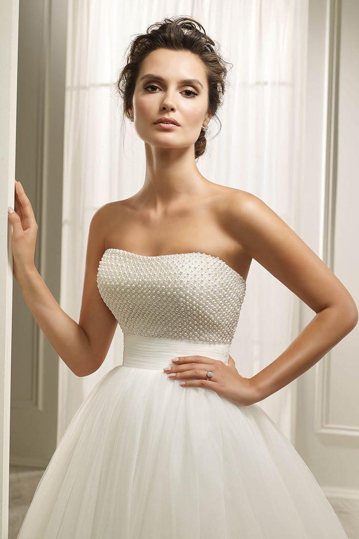 Ronald Joyce Hope Pearl Beaded Tulle Ivory Wedding Dress