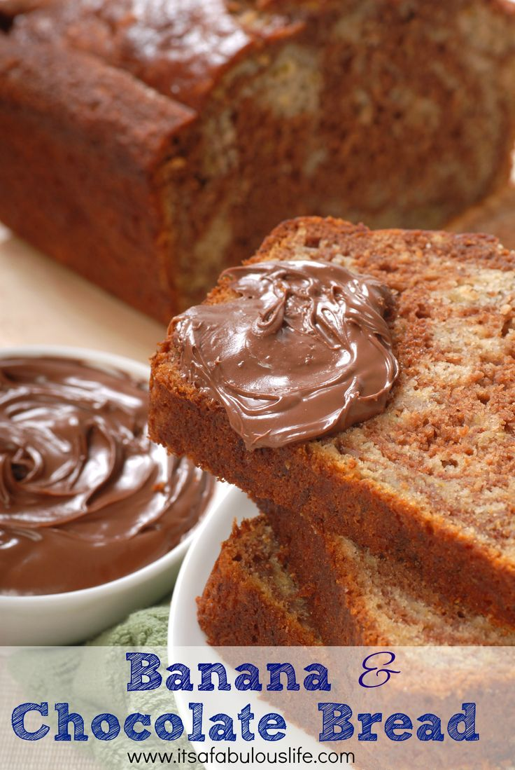 Banana and Chocolate Bread Recipe -- This is SO good!! I've already made it twice this week!!