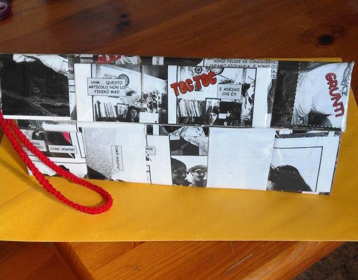 Portadocumenti - borsa portadocumenti pochette - un prodotto unico di bandullera su DaWanda