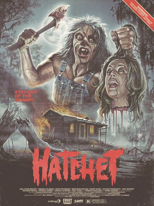 "80s Horror Movie Posters | ... -Edition ""Hatchet"" Poster Signed By Kane Hodder 