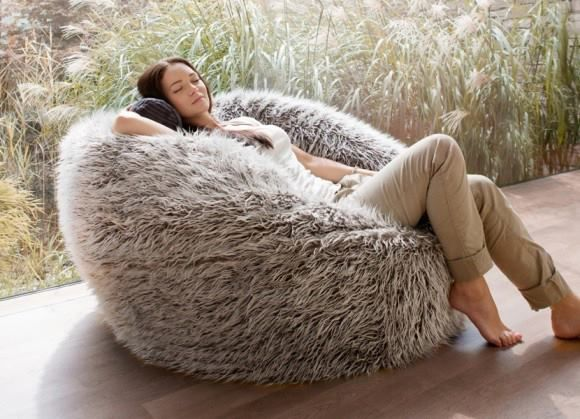 Buy Faux Fur Bean Bag | Fur Beanbag Chair Online