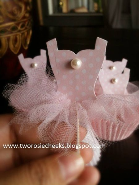 Ballerina Cupcake Toppers-Cute little cupcake toppers made from all dressed up framelits die