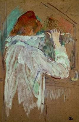 Woman Curling Her Hair - Henri de Toulouse Lautrec