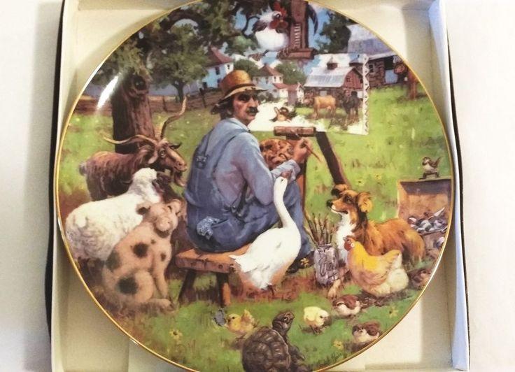 """1983 Lowell Davis """"The Critics"""" Schmid Plate in Box ~ Early #106 ~ Rare"""