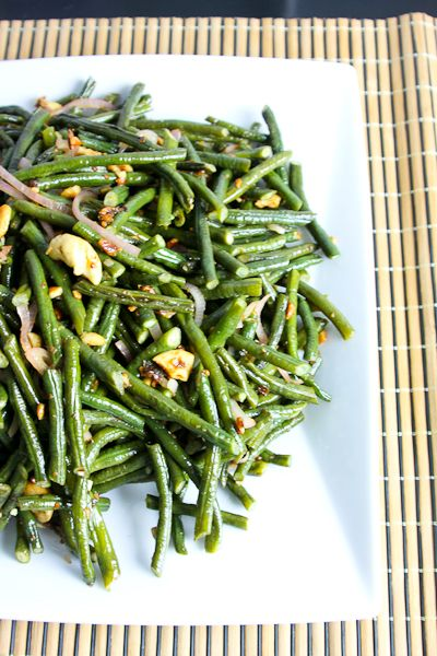 Chinese Long Beans with Cashews and Smoky Date Sauce
