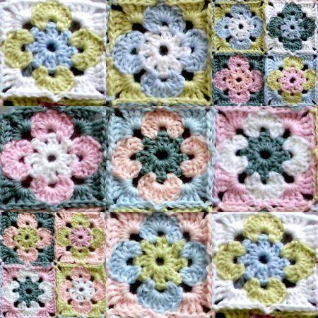 Sweet Crochet granny. Inspiration.