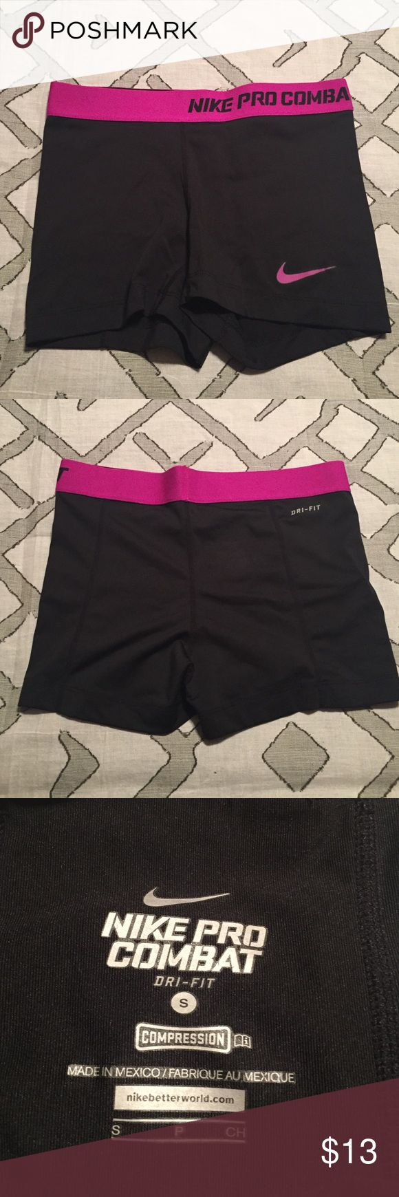 Nike Pro Combat Shorts Splash of color, never worn, Nike Pro Combat Shorts. Perfect for working out in style! Nike Shorts