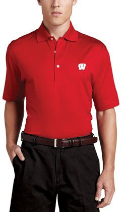 $99, Peter Millar Wisconsin Gameday College Shirt Polo Red. Sold by Neiman Marcus. Click for more info: https://lookastic.com/men/shop_items/43141/redirect