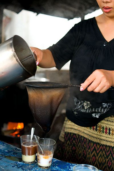 Making coffee Lao style