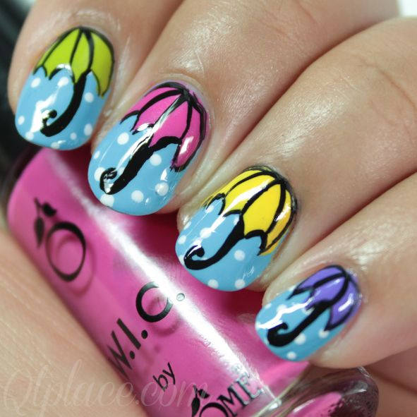 Umbrella nails | Qtplace #nail #nails #nailart