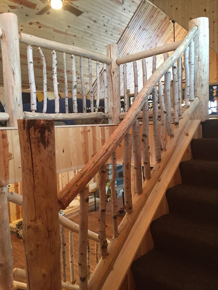 Best Birch And Pine Railing My Husband Built This Railing 400 x 300