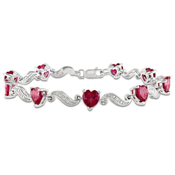 best stone heart images size shape type setting class bracelets created ruby red pinterest bracelet on