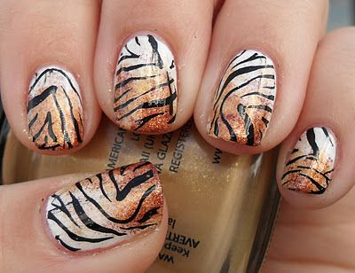 animal print nails ~ TIGER! - Best 25+ Tiger Nails Ideas On Pinterest Tiger Nail Art, Zebra