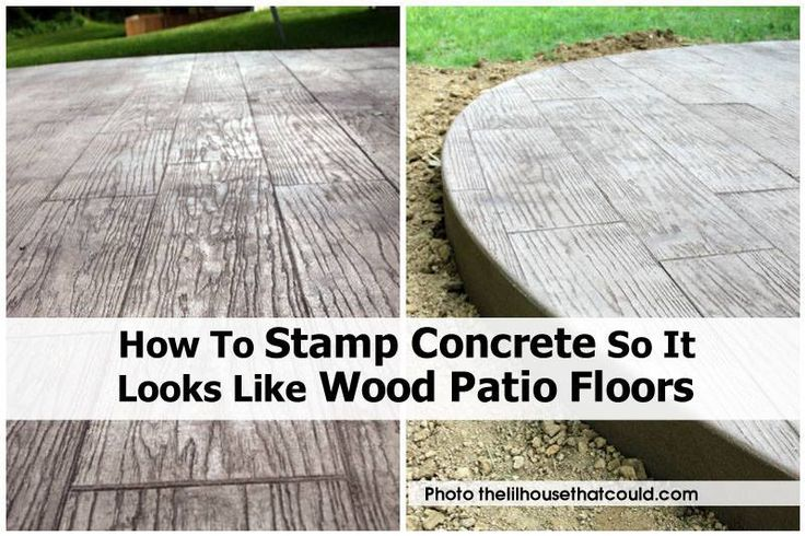 Wood decks and patios are a thing of the past! They take maintenance and money. The same can't be said for concrete. An 80 pound bag of cement costs around $3.50, can be stamped and stained to look like wood, has little upkeep, is very durable, and looks so good! What a terrific idea!